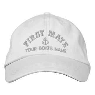 Compagnon personnalisé de poing d'équipage de casquettes brodées