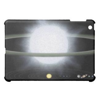 Comparaison de la taille d'une étoile hypergiant coques iPad mini