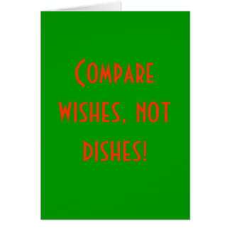Comparez les souhaits, pas plats ! cartes de vœux