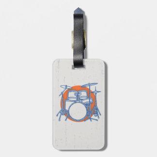 Compensation de kit de tambour étiquette pour bagages