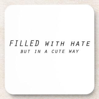 complété avec haine mais une manière mignonne dessous-de-verre