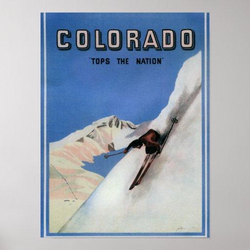 Complète la nation - affiche promotionnelle de ski
