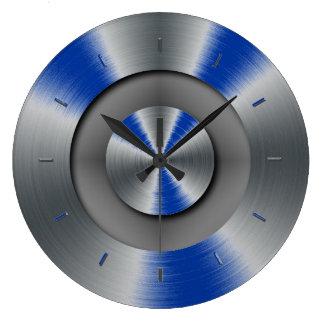 Compléter de couleur d'accents de yeux de bleus la grande horloge ronde