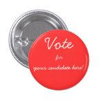 Complétez les boutons de candidat badge avec épingle