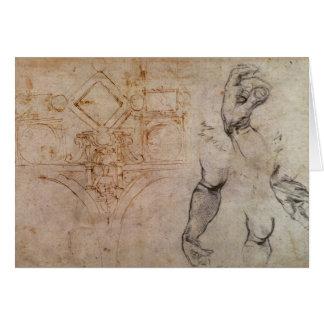 Complotez pour le plafond de chapelle de Sistine, Carte De Vœux