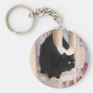 Comporter de porte - clé de chat noir fumeux porte-clés