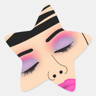 Composez et coiffure sticker étoile