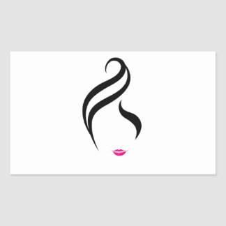 Composez et coiffure sticker rectangulaire