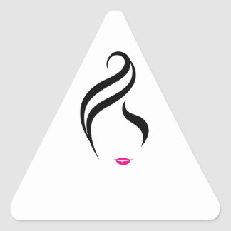 Composez et coiffure sticker triangulaire