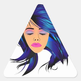 Composez et Madame graphique de cheveux avec un Sticker Triangulaire