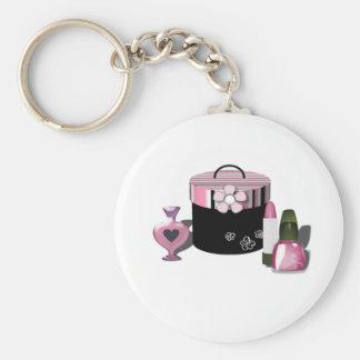 Composez la fille de cosmétiques porte-clefs