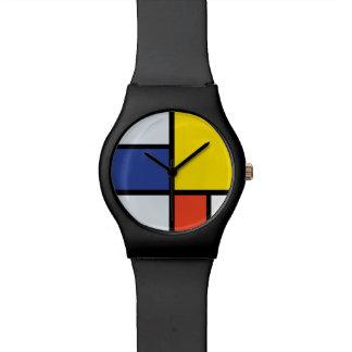 Composition A - art moderne abstrait en Piet Montres Bracelet