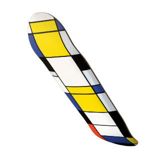 Composition A - art moderne abstrait en Piet Skateboard