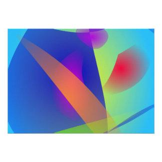 Composition abstraite bleu-clair faire-parts