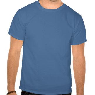 Composition abstraite bleu-clair t-shirts