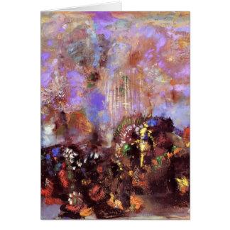 Composition avec des fleurs par Odilon Redon Carte De Vœux