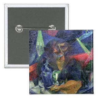 Composition avec figure d'une femme, 1912 (huile s badge carré 5 cm