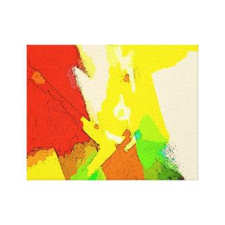 Composition en art abstrait - vibrations positives toile tendue sur châssis