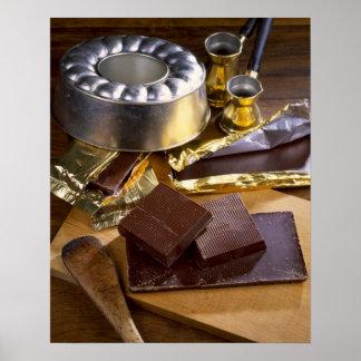 Composition en chocolat pour l'usage aux Etats-Uni Affiches