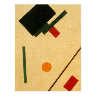 Composition en Suprematist par Kazimir Malevich Cartes Postales