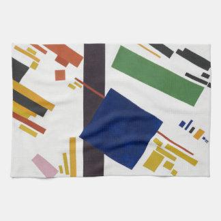 Composition en Suprematist par Kazimir Malevich Serviette Éponge