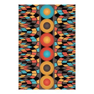 Composition géométrique colorée impression photo