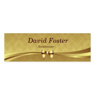 Comptable - damassé brillante d'or cartes de visite personnelles