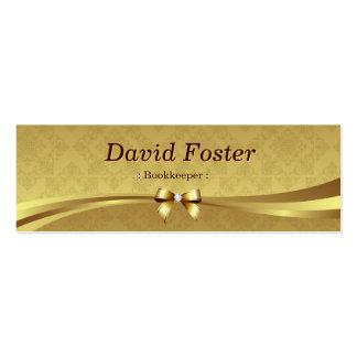 Comptable - damassé brillante d'or carte de visite petit format