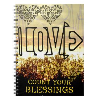Compte d'amour votre carnet de notes à spirale de