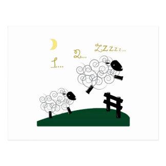 Compte des moutons carte postale