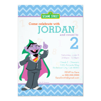Compte von Count Birthday Carton D'invitation 12,7 Cm X 17,78 Cm