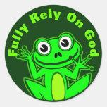 Comptez entièrement sur l'autocollant de Froggy de