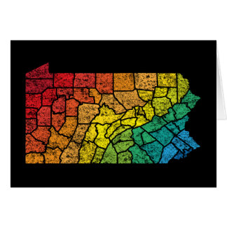 comtés de couleur de la Pennsylvanie Carte De Vœux