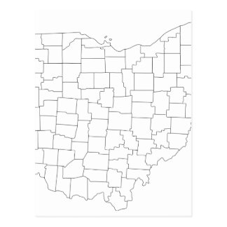 Comtés de l'Ohio Carte Postale