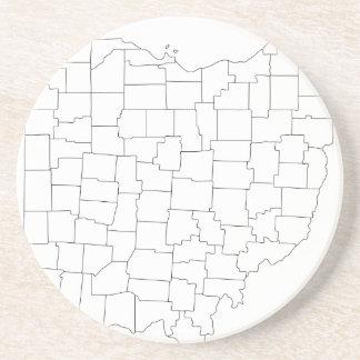 Comtés de l'Ohio Dessous De Verre