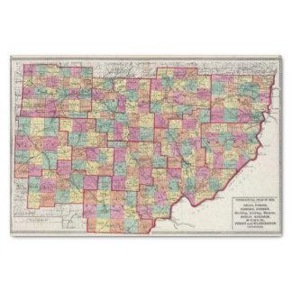 Comtés de l'Ohio Papier Mousseline