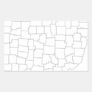Comtés de l'Ohio Sticker Rectangulaire