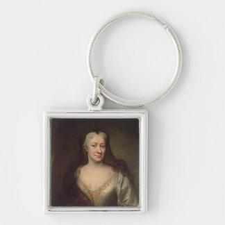 Comtesse Fuchs, institutrice de Maria Theresa Porte-clé Carré Argenté