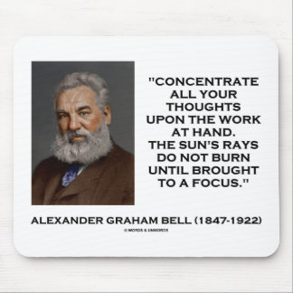 Concentrez toutes vos pensées lors du travail tapis de souris
