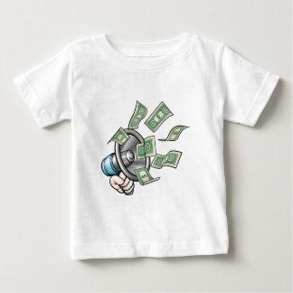 Concept d'argent de mégaphone t-shirt pour bébé