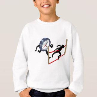 Concept de course d'horloge d'équilibre de la vie sweatshirt
