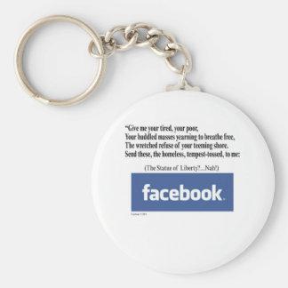 Concept de Facebook Porte-clé Rond