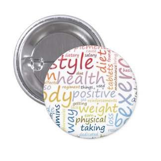 Concept de forme physique pour la perte de poids badges