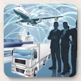 Concept de logistique d'équipe d'affaires sous-bock
