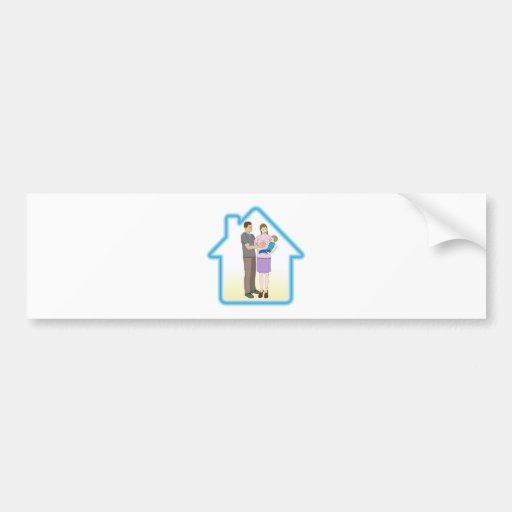 Concept de maison familiale autocollants pour voiture