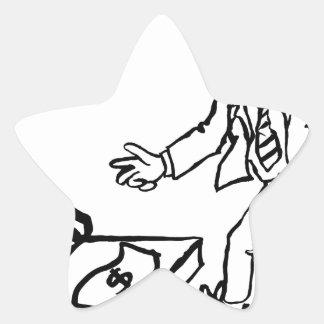 Concept de piège d'argent d'homme d'affaires sticker étoile