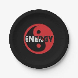 Concept d'énergie de Yin et de yang Assiettes En Papier