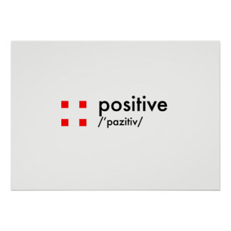 concept positif poster
