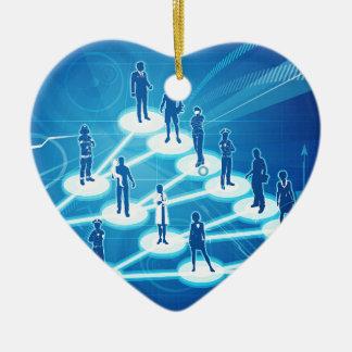 Concept viral d'affaires de vente ornement cœur en céramique
