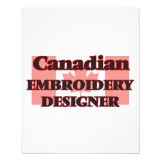 Concepteur canadien de broderie prospectus 11,4 cm x 14,2 cm